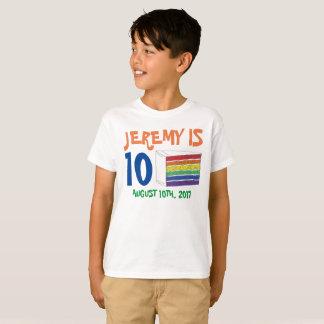 Camiseta Torta personalizada del arco iris del favor de la
