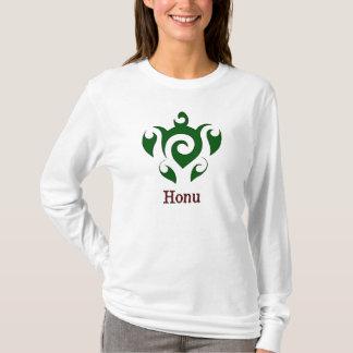 Camiseta Tortuga de mar verde hawaiana de Swirly