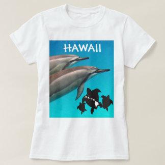 Camiseta Tortuga y delfín 115 de Hawaii de la hawaiana