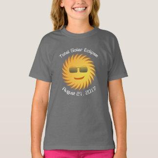 Camiseta total del eclipse solar