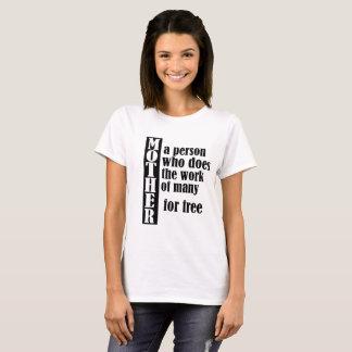 Camiseta Trabajo divertido del día de madre gratis