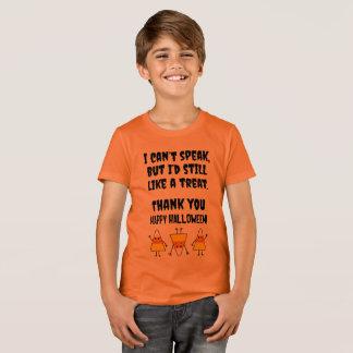 Camiseta Traje no verbal del truco o de la invitación del