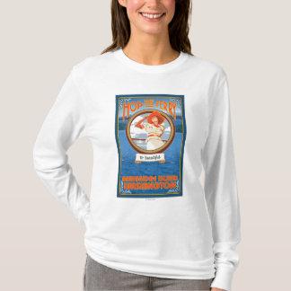 Camiseta Transbordador del montar a caballo de la mujer -