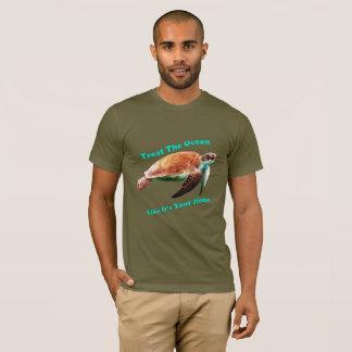 Camiseta Trate el océano como es su hogar