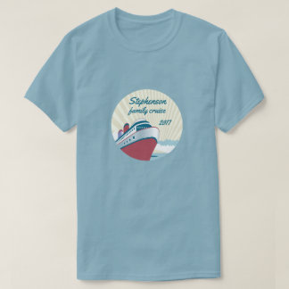 Camiseta Travesía de la familia con el barco de cruceros