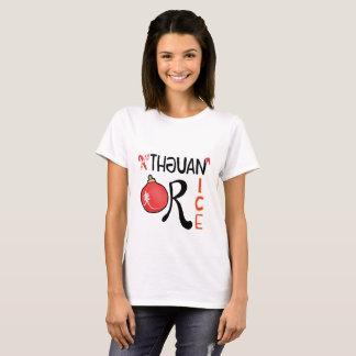 Camiseta traviesa o Niza (diseño del navidad)