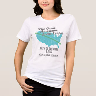Camiseta Trayectoria 2017 del eclipse solar de la totalidad