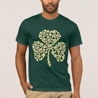 Camiseta Trébol irlandés fresco de los cráneos