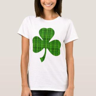 Camiseta Trébol verde de la tela escocesa