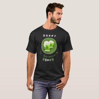 Camiseta Tréboles de la hoja de la cerveza 4 del verde del