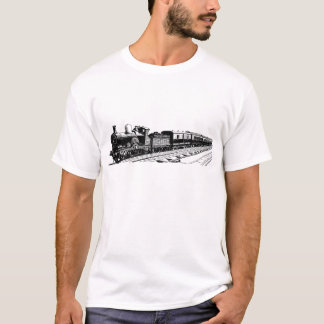 Camiseta Tren del vintage - negro