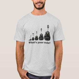 Camiseta ¿Trenes del modelo - cuál es su escala? Motores de