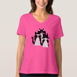 Camiseta Tres gatitos sabios en un grupo