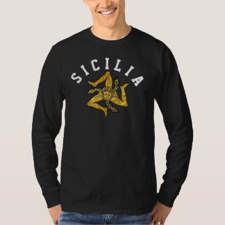 Camiseta Trinacria siciliano en oro personaliza