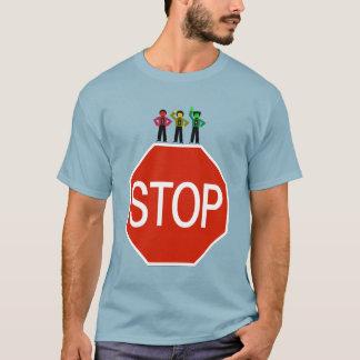 Camiseta Trío cambiante de la luz de parada en muestra de
