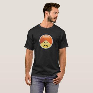 Camiseta triste de Emoji del turbante de Guru de