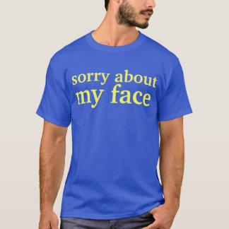 Camiseta triste sobre mi cara
