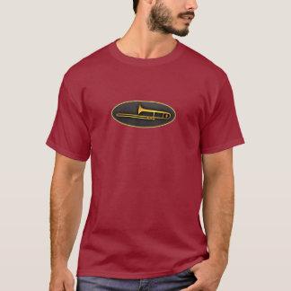 Camiseta Trombone oval de oro