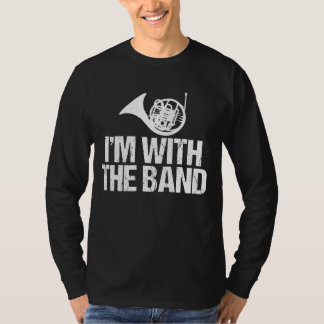 Camiseta Trompa divertida estoy con la banda
