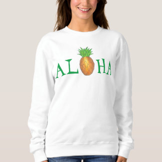 Camiseta tropical de la isla de Hawaii de la piña