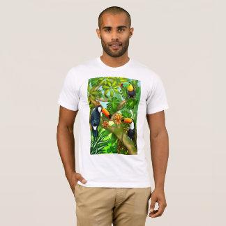 Camiseta tropical de los pájaros de Toco Toucan