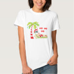 Camiseta tropical del flamenco del árbol de