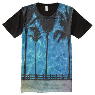 Camiseta tropical del gráfico del verano de las