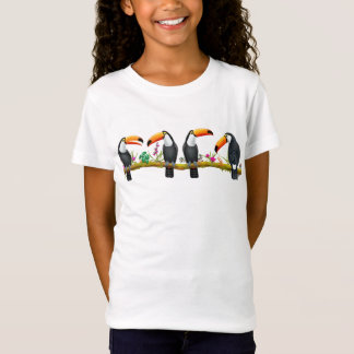 Camiseta tropical del punto del jersey de los
