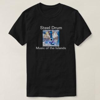 Camiseta tropical del tambor de acero de la isla