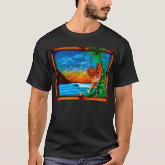 Camiseta tropical del verano