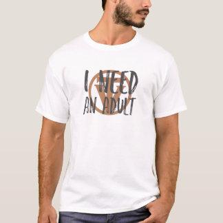 Camiseta TrueVanguard - necesito a un adulto - diseño
