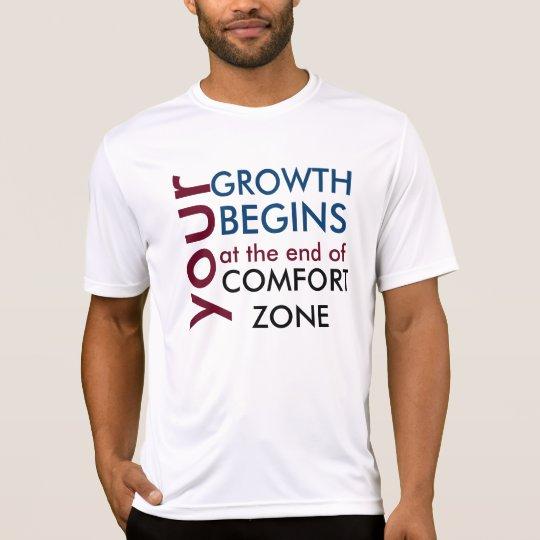 Camiseta Tu crecimiento empieza fuera de tu zona de comfort