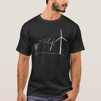 Camiseta Turbinas de viento blancas
