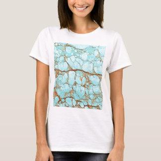 Camiseta Turquesa agrietada oxidada