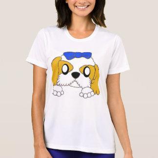 Camiseta tzu de shih que mira a escondidas el oro y el