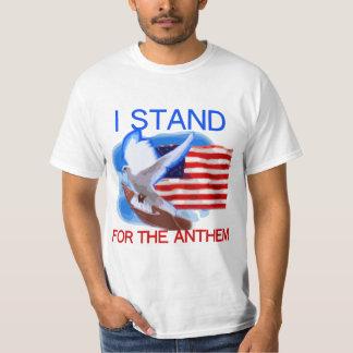 Camiseta U.S. Bandera y paloma que represento el himno