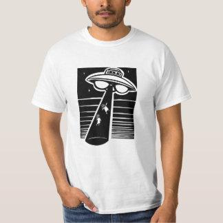 Camiseta UFO - grabar en madera