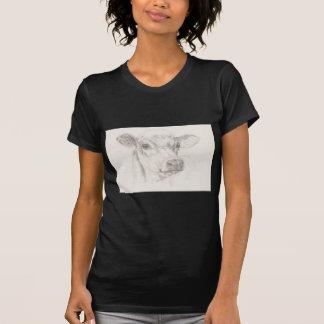 Camiseta Un dibujo de una vaca joven
