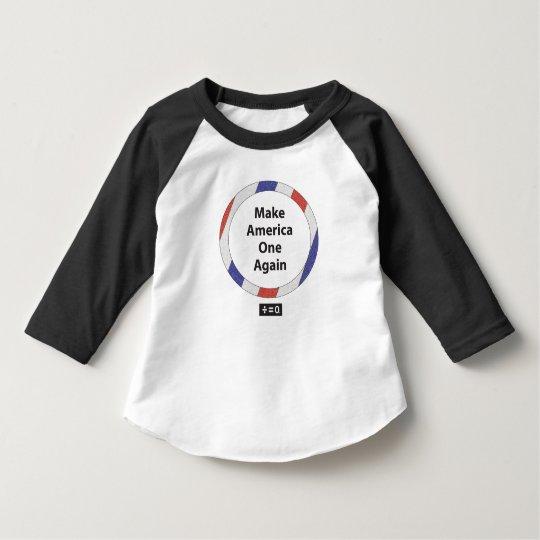 Camiseta Un raglán T de la manga del niño App 3/4 de