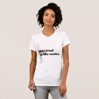 Camiseta Una boda fuerte tiene dios en el centro