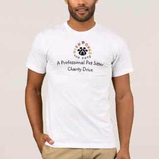 Camiseta Una caridad profesional del canguro del mascota