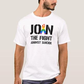 Camiseta Únase a la lucha contra suicidio gay