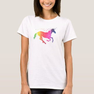 Camiseta Unicornio del rosa de arco iris