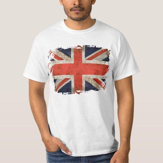 Camiseta Union Jack destrozado envejecido