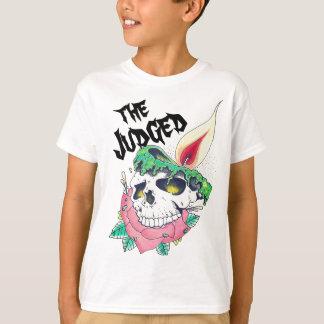 camiseta unisex de los niños de la vela del cráneo