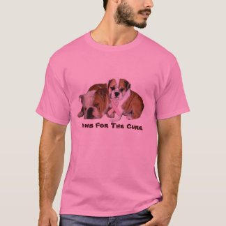 Camiseta unisex del cáncer de pecho del dogo