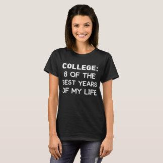 Camiseta Universidad 8 de los mejores años de mi graduación