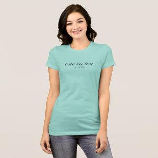 Camiseta uno en diez