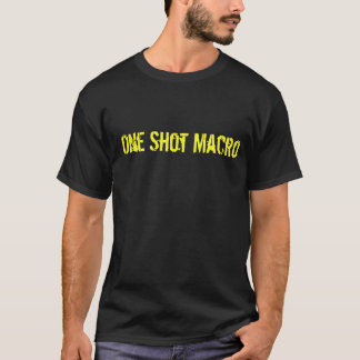 Camiseta Uno tiró macro