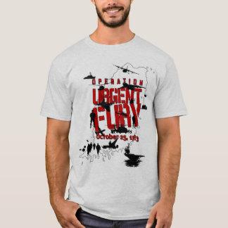 Camiseta urgente de la acción de la furia de la